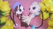 Children's Accessories - ハンドメイドあみぐるみ★ヘアゴム2個組★アナと雪の女王風