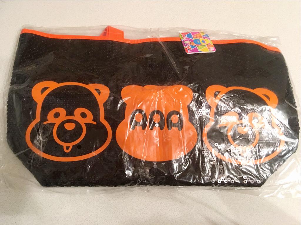 AAA スパンコールバッグ 橙 え~パンダ 【 西島隆弘 Nissy 】タグ付き 未開封 ライブグッズの画像