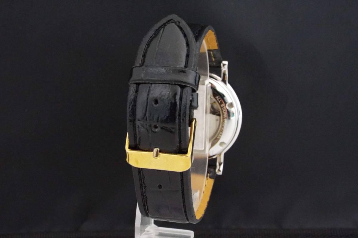 GIORGIO ROSSI ジョルジオロッシ/自動巻き/メンズ腕時計/ツイン時計/裏スケ/インデックス ローマ数字/GR0004/T836_画像3