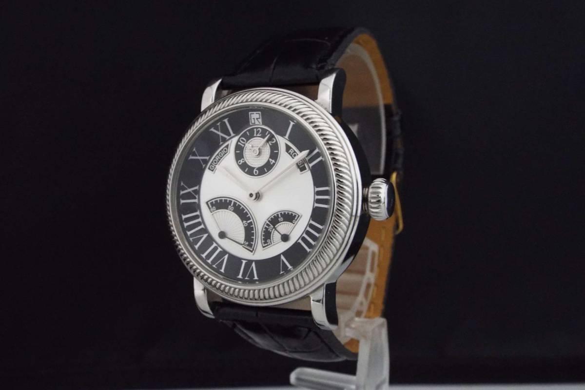 GIORGIO ROSSI ジョルジオロッシ/自動巻き/メンズ腕時計/ツイン時計/裏スケ/インデックス ローマ数字/GR0004/T836_画像2