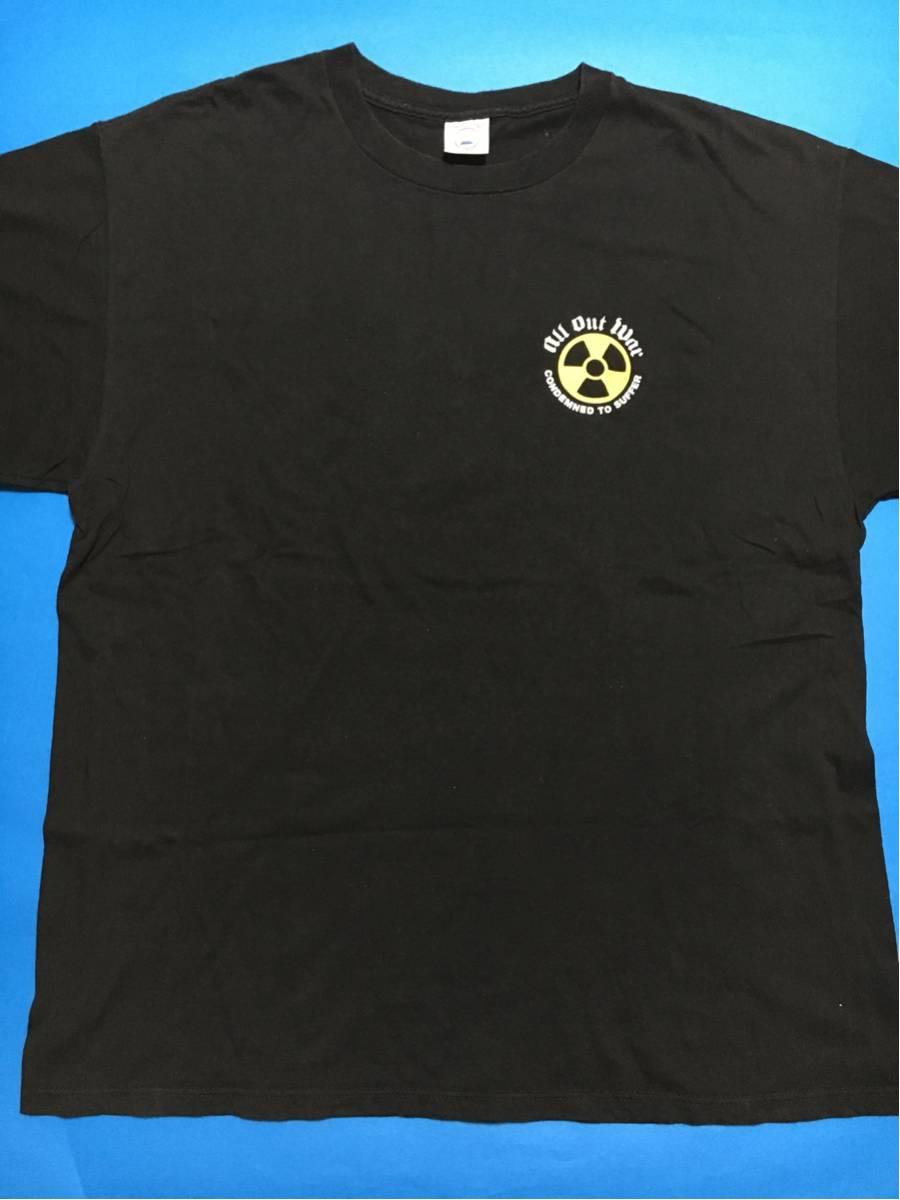 2003年 all out war Tシャツ/ビートダウン.ヴィンテージ.タフガイ.デスメタル.NYHC.メタルコア、デスコア、ニュースクールハードコア