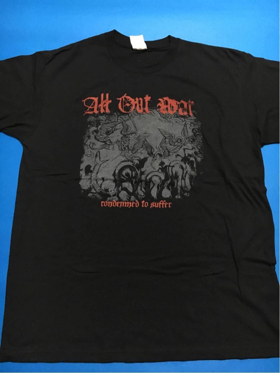 all out war ヴィンテージTシャツ美品/ビートダウンhardcoreデスコアNYHCニューヨークハードコア、ニュースクール