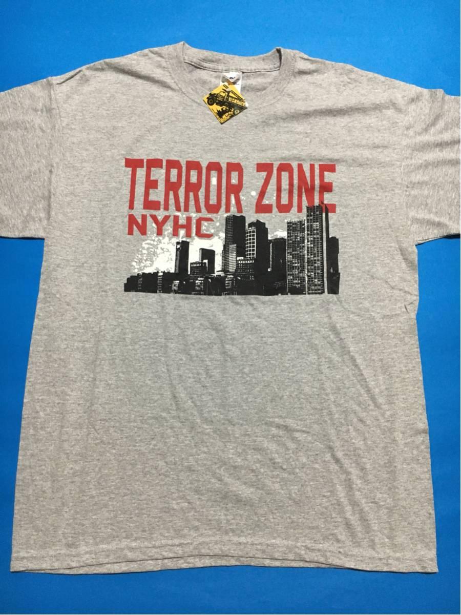 TERROR ZONE Tシャツ新品 デッドストック/NYHCニューヨークハードコア.ビートダウン,bulldoze.irate.merauder.e-town concreteタフガイ