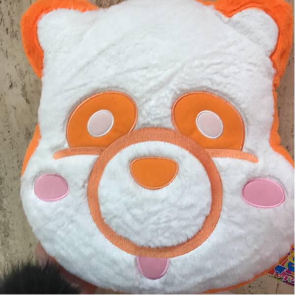 AAA え~パンダ ふさふさフェイス クッション 西島隆弘 ぬいぐるみ にっしー オレンジ