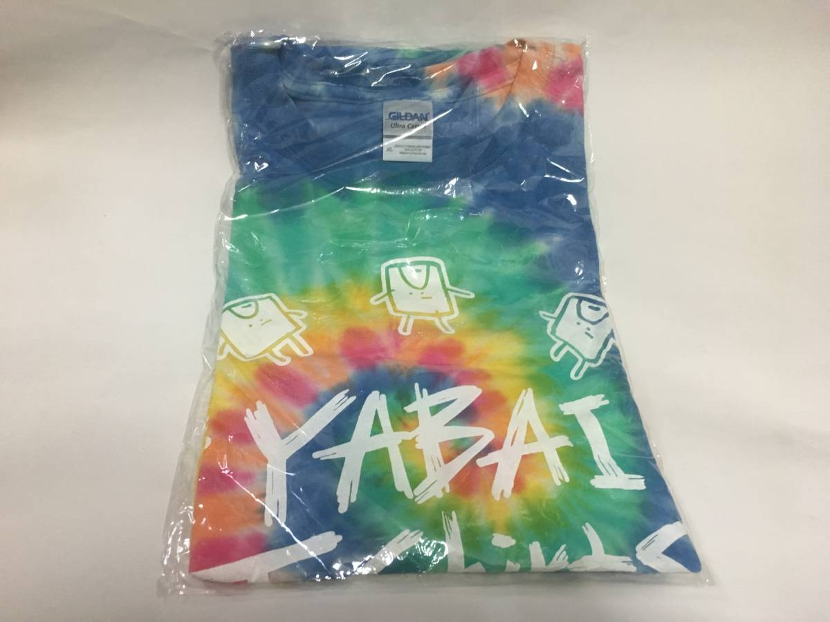ヤバイTシャツ屋さん 主張激しめ夏Tシャツ(カラフルタイダイ) XLサイズ 新品未開封 京都大作戦2017 グッズ