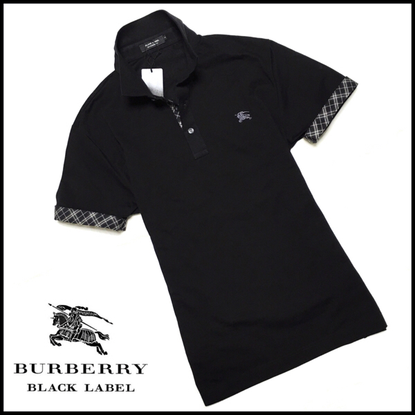 5707a33c2 Super rare new item ◇ ◇ Free shipping ◇ BURBERRY BLACK LABEL Japan premium  polo