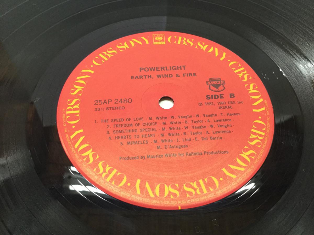 試聴済 帯付 LP EARTH WIND&FIRE POWER LIGHT 80年代洋楽 創世記 アース・ウインド&ファイヤー