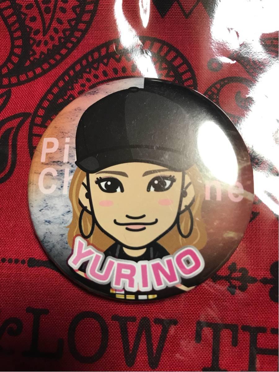 Happiness YURINO バッジ pink campaigne