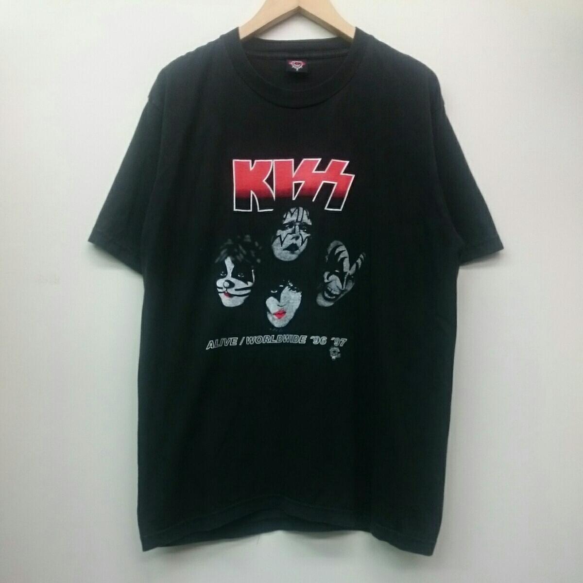 KISS キッス ALIVE/WORLD WIDE 96-97 THE GTS Tシャツ アメリカ ロックバンド ライブグッズの画像