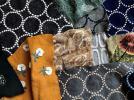 ☆ミナペルホネン 刺繍 はぎれ 60枚(生地 ファブリック 生地 tambourine mina perhonen