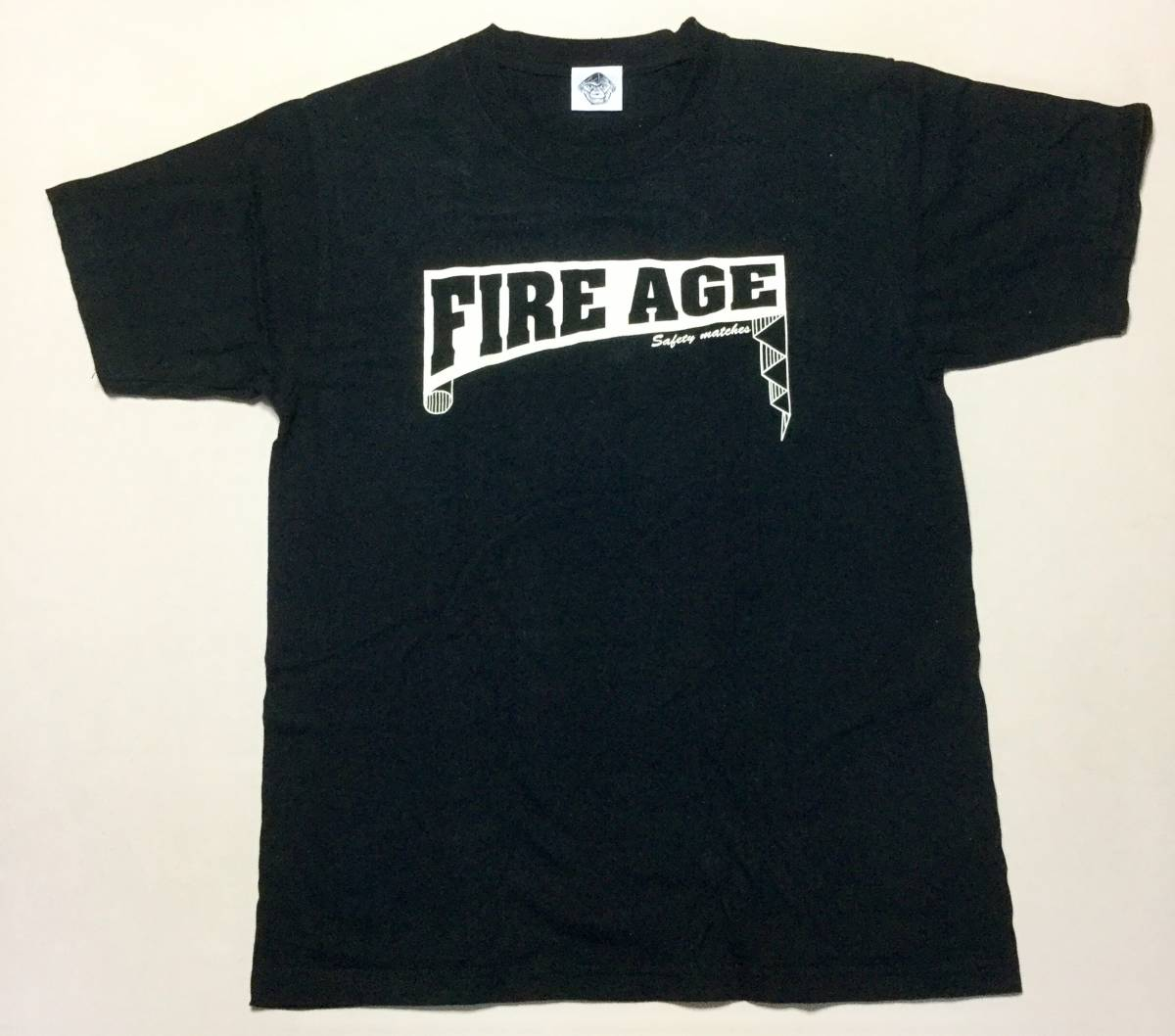 ザ・クロマニヨンズ FIRE AGEツアーTシャツ 中古 ライブグッズの画像