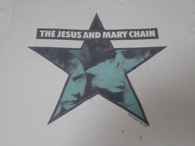 【 80S THE JESUS AND MARY CHAIN 】 ヴィンテージ Tシャツ ジザメリ 白 当時物 腰シングルステッチ / マイブラ dinosaur jr blur pixies