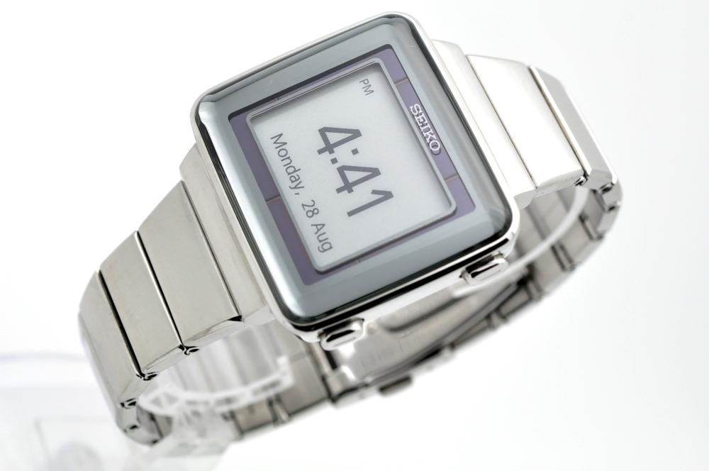 セイコー スピリット◆ソーラー電波 デジタル メンズ 腕時計 S771-0AA0 純正ステンレスベルト 電波時計 SEIKO SPIRIT 角型 スクエア
