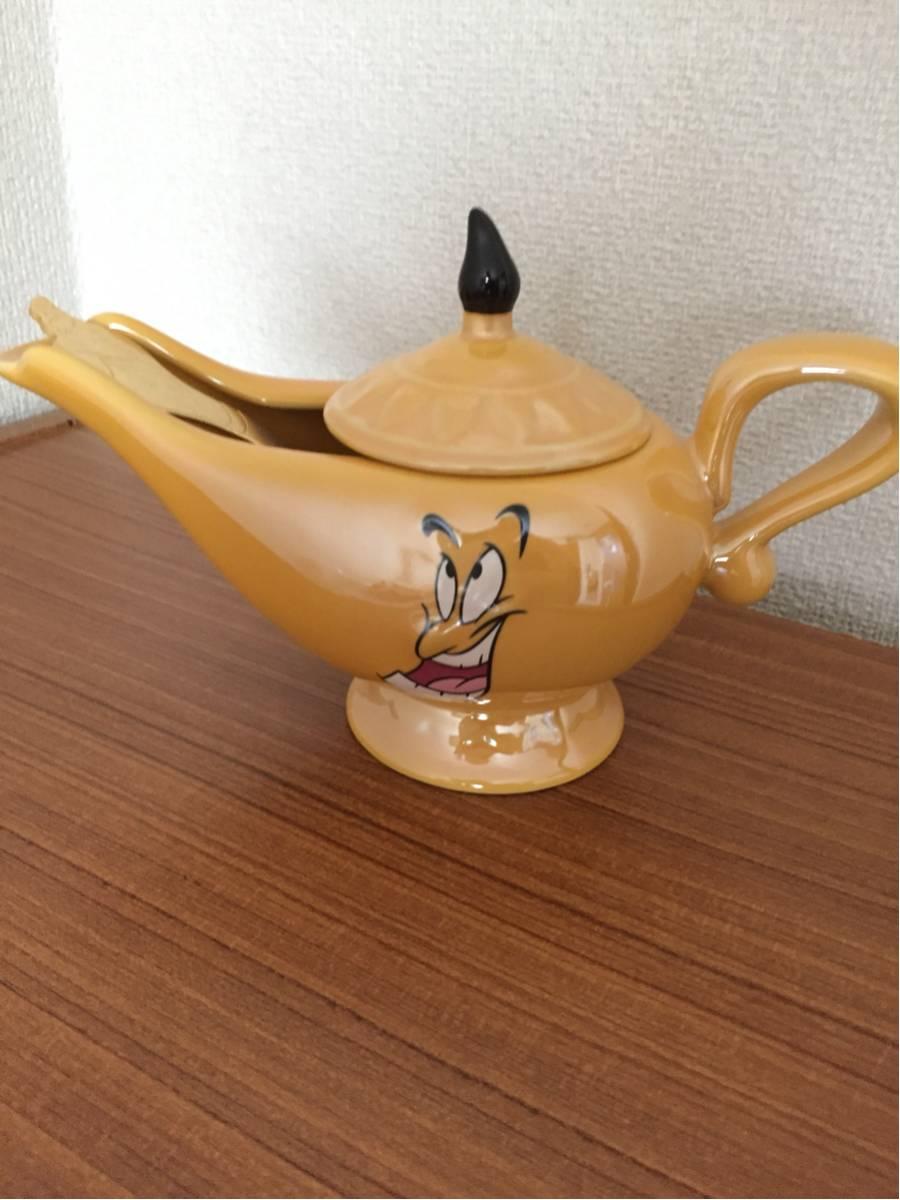 ディズニー 15周年 アラジン ジーニー カレー ポット スプーン セット 食器 陶器 ★送料無料★ ディズニーグッズの画像