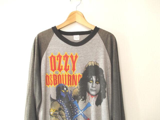激レア!! 82年 ビンテージ【Ozzy Osbourne】ラグラン ベースボール 80s バンドTシャツ オジー・オズボーン