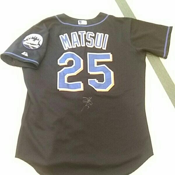 【直筆サイン入】MLB ニューヨーク・メッツ 25松井稼頭央 オーセンティックジャージ 44サイズ 楽天ゴールデンイーグルス グッズの画像