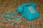 レトロ☆黒電話◎プッシュホン601-P(B)CL☆イオ光電話動作確認済み◎ブルー