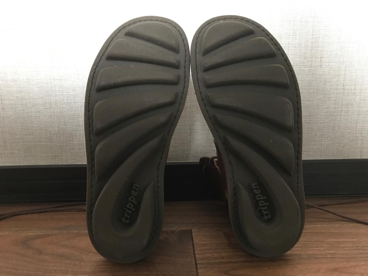 超美品○trippen トリッペン○NOMAD ノマド レースアップ レザー 革 ショート ブーツ 36 23 23.5_画像3