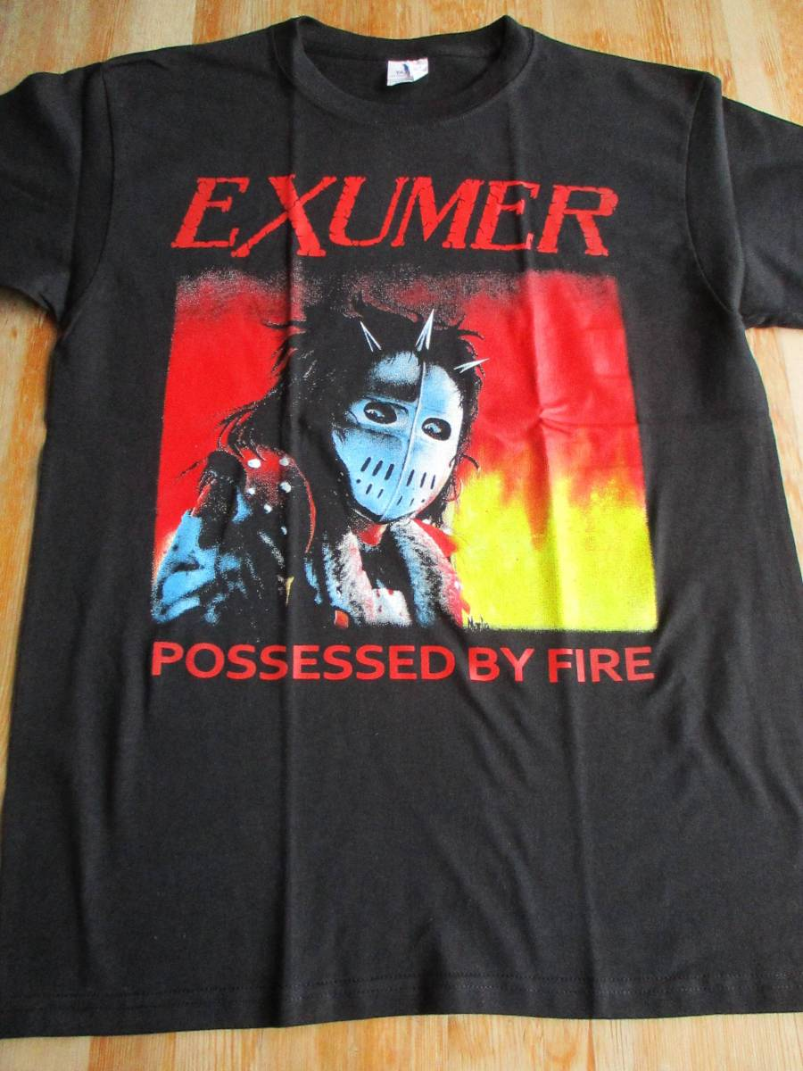 EXUMER Tシャツ possessed by fire 黒M / slayer sodom kreator exodus dark angel aggression morbid saint
