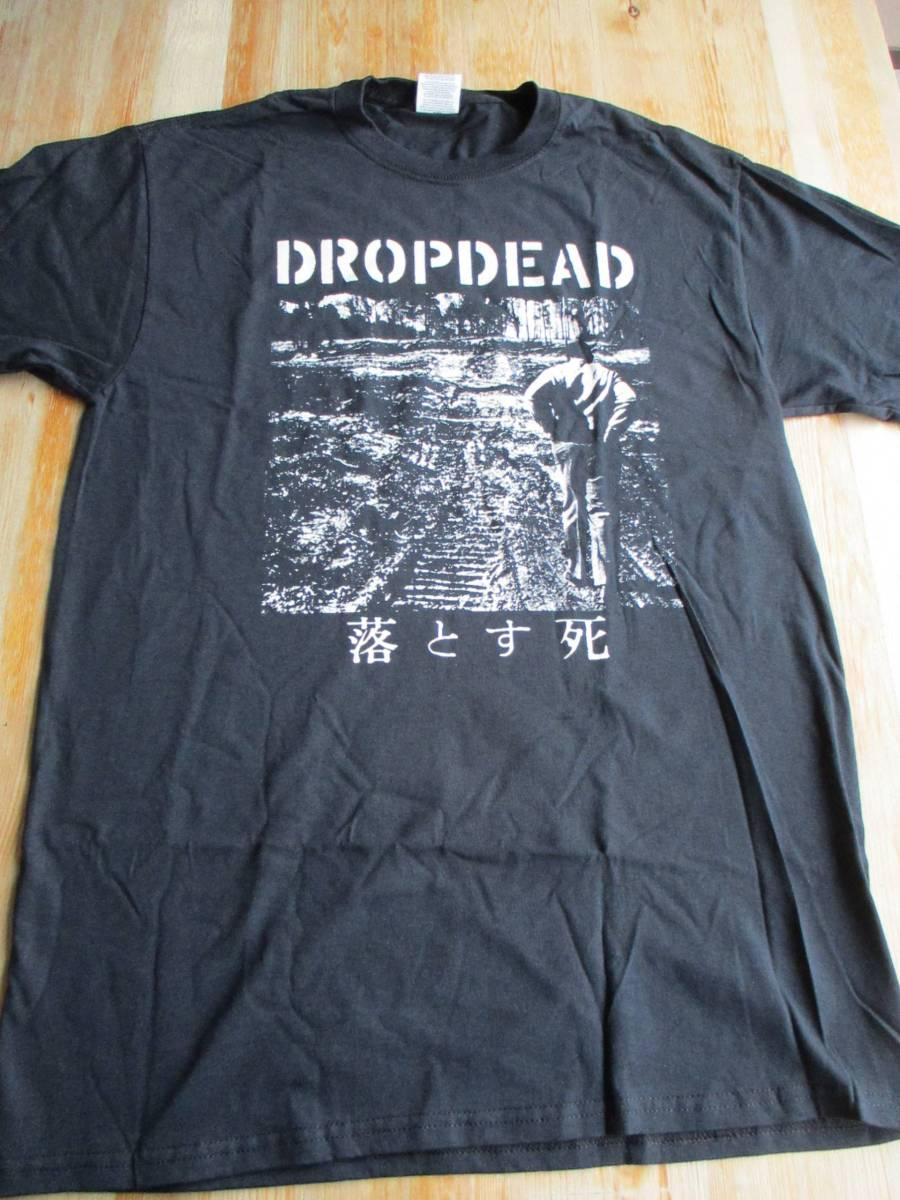 DROPDEAD Tシャツ 落とす死 黒M バックプリントあり / los crudos mk ultra charles bronson no comment spazz siege