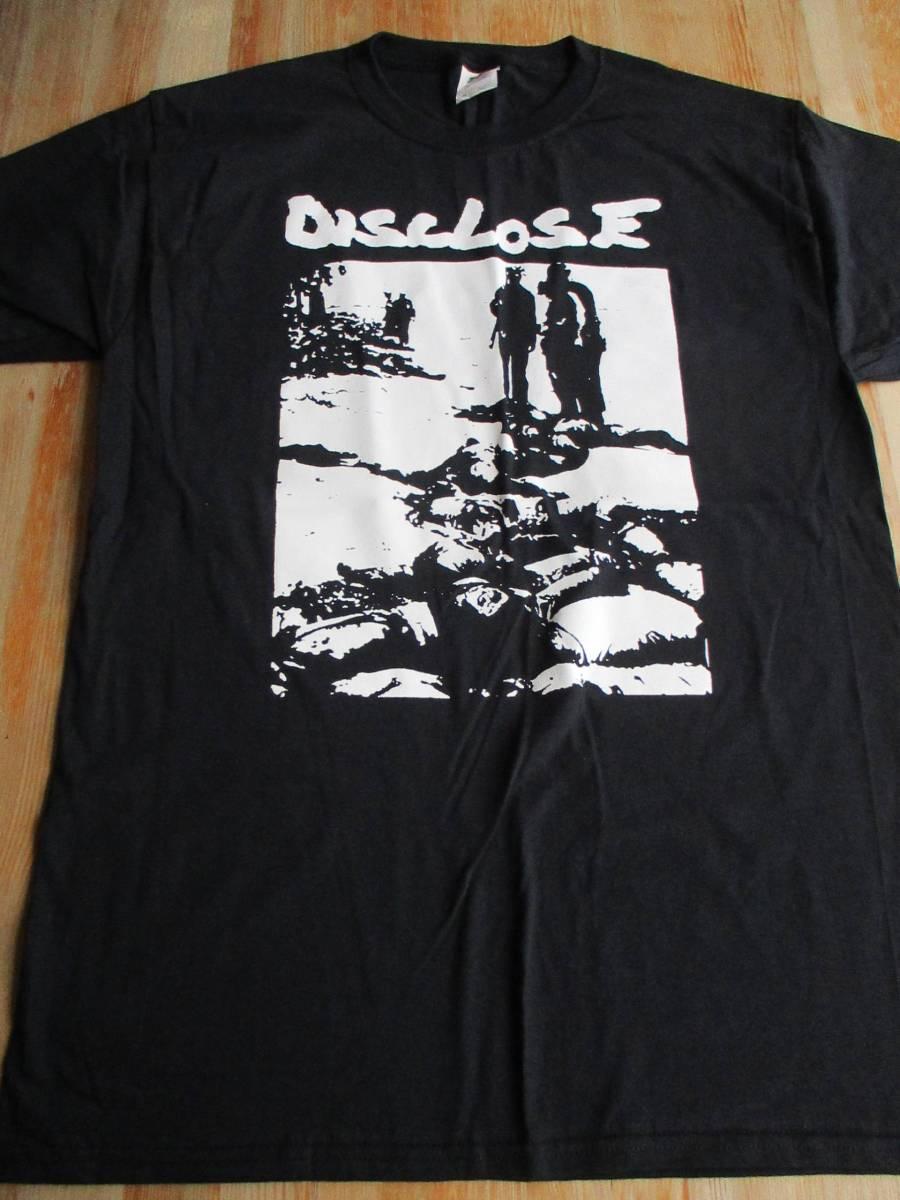 DISCLOSE Tシャツ Dead Bodies 黒M / discharge broken bones doom amebix anti cimex mob47