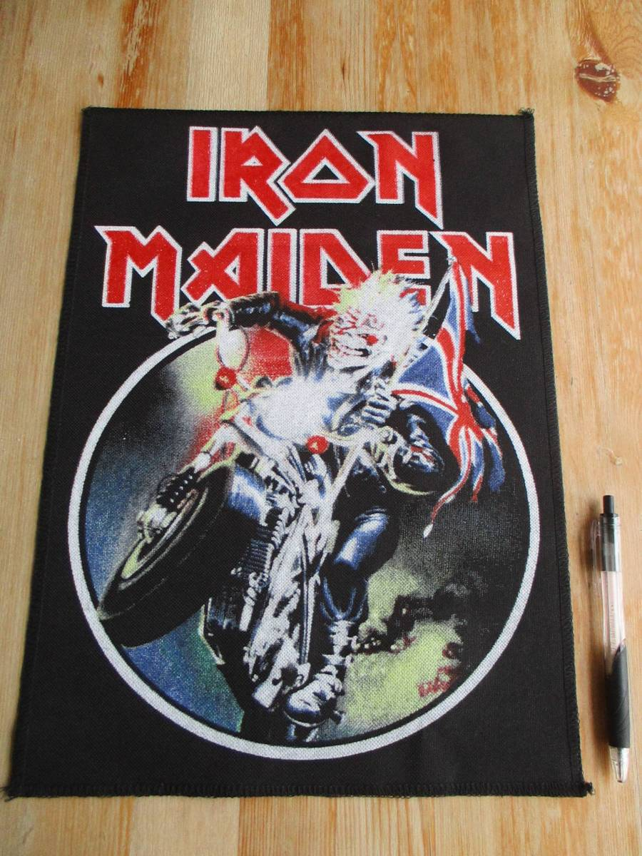 IRON MAIDEN プリント バックパッチ ワッペン ENGLAND アイアン メイデン / metallica motorhead venom slayer