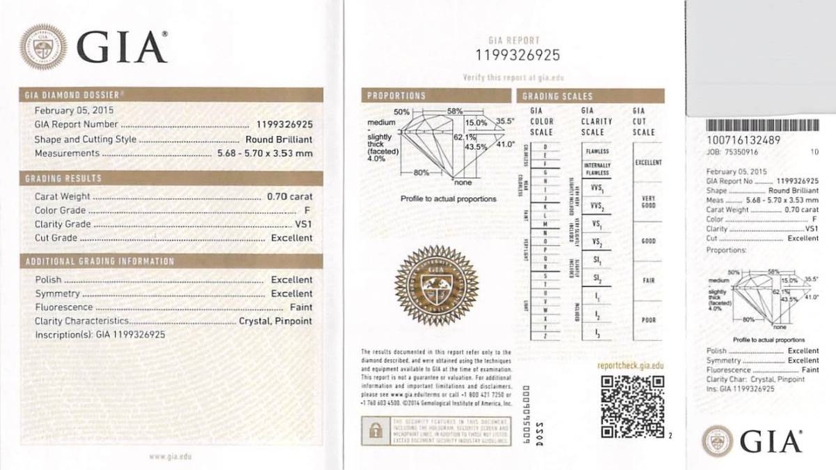 消費税不要! 新品同様: ハリーウィンストン プラチナ Pt950 ダイヤモンド 0.70ct ソリティア リング 指輪 US5.25号_画像3