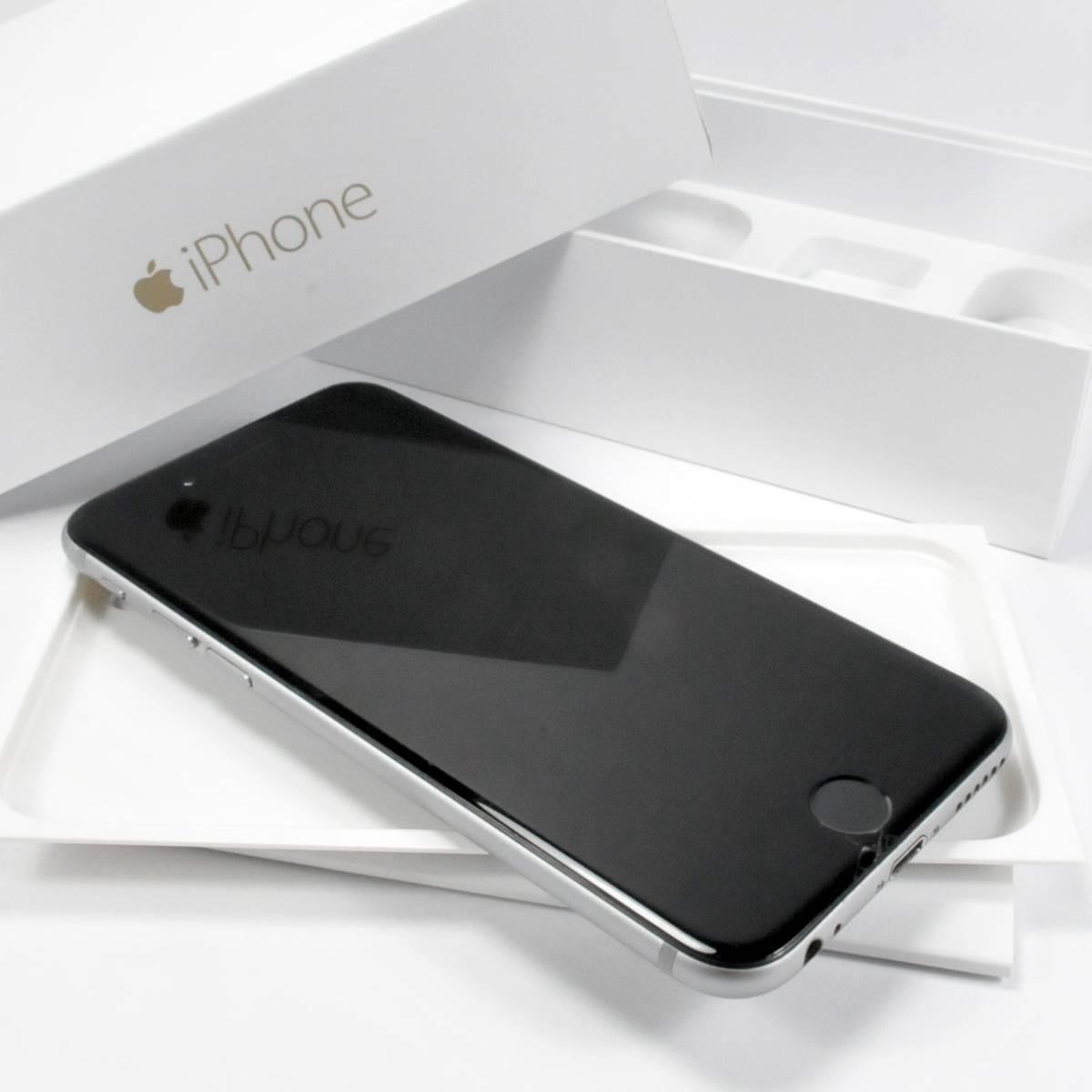 ドコモ iPhone6 64GB MG4F2J/A スペースグレイ黒グレー #7293