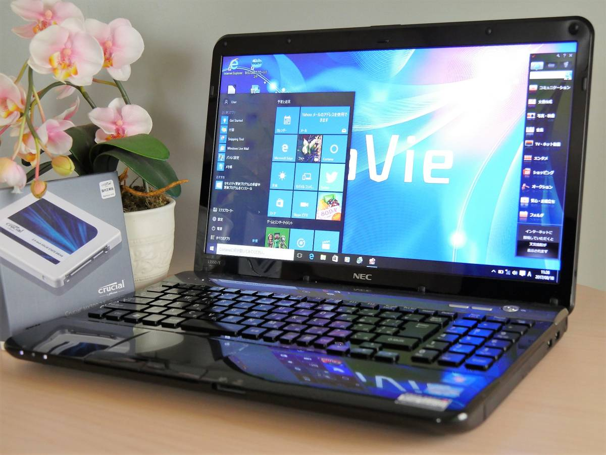 性能重視♪新品SSD♪LS550/E(第2世代Core i7/8GB/275GB)Windows10/Office/Blu-ray