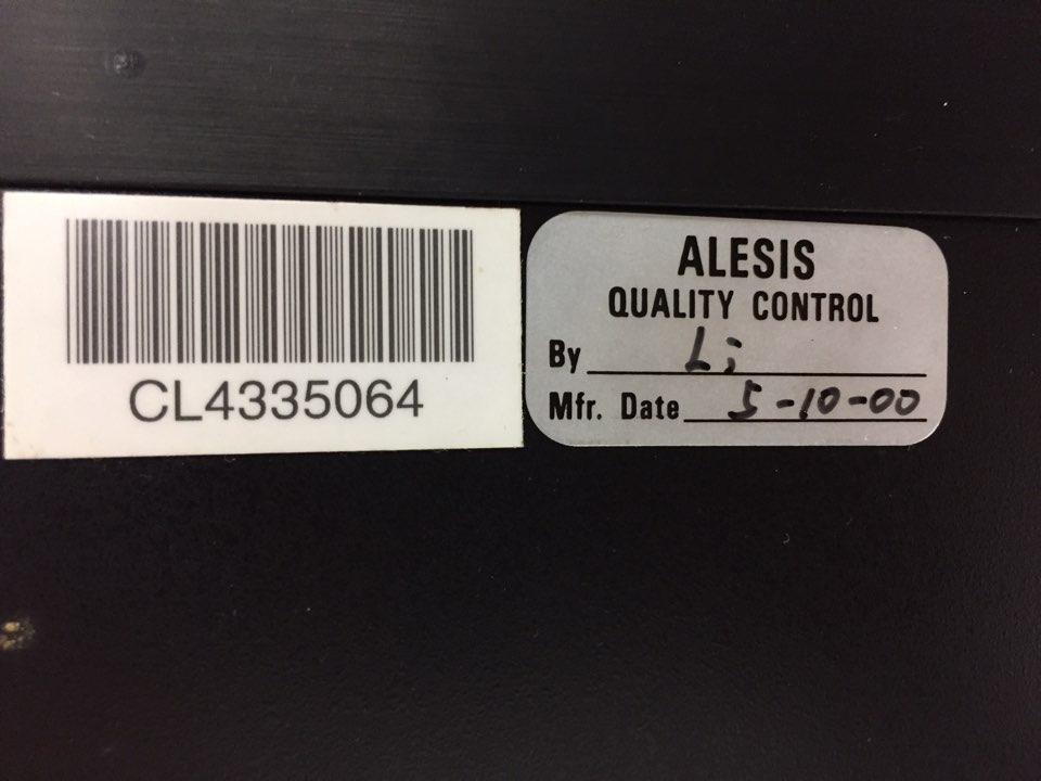 [美品1円] ALESIS 3630 完動品!! 取説&電源アダプター付 デュアルコンプレッサー アレシス_画像3