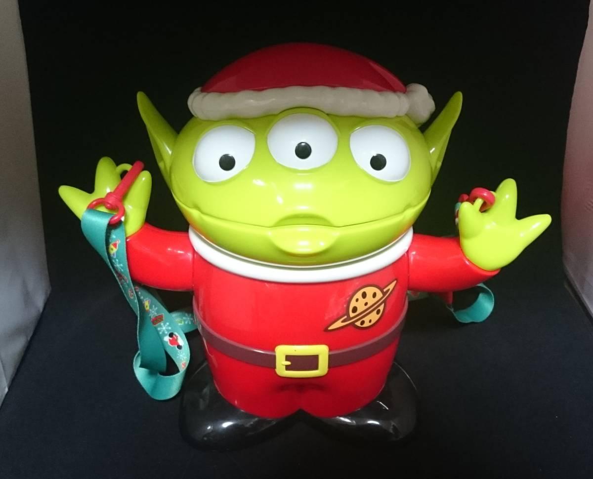 ディズニーランド ポップコーン バケット エイリアン リトルグリーンメン LGM トイストーリー クリスマス サンタ 期間限定品 ディズニーグッズの画像
