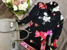 ☆彡2点落札で送料無料☆彡LEONARDレオナール☆彡☆秋映えする華やぎデザインが印象的な☆上質絹ブレンドプルオーバーL☆彡