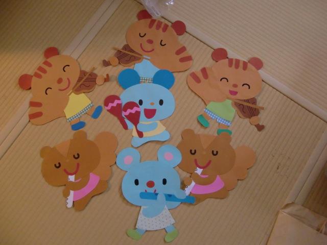 壁面飾り☆動物6体☆保育園幼稚園施設等に♪