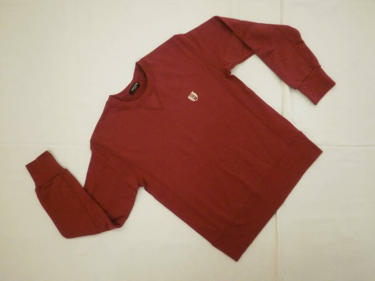 【美品!】 ◆ COMME CA ISM / コムサイズム ◆ スウェット 150A ロゴ入り 赤色 着丈 57 cm (CM53K016)