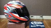 アライ Arai RX7 RR4 RX7-RR4 RX-7 RRⅣ ハガ HAGA 芳賀紀行 スモークシールド付!! フルフェイス ヘルメット Mサイズ 綺麗な商品 売切り