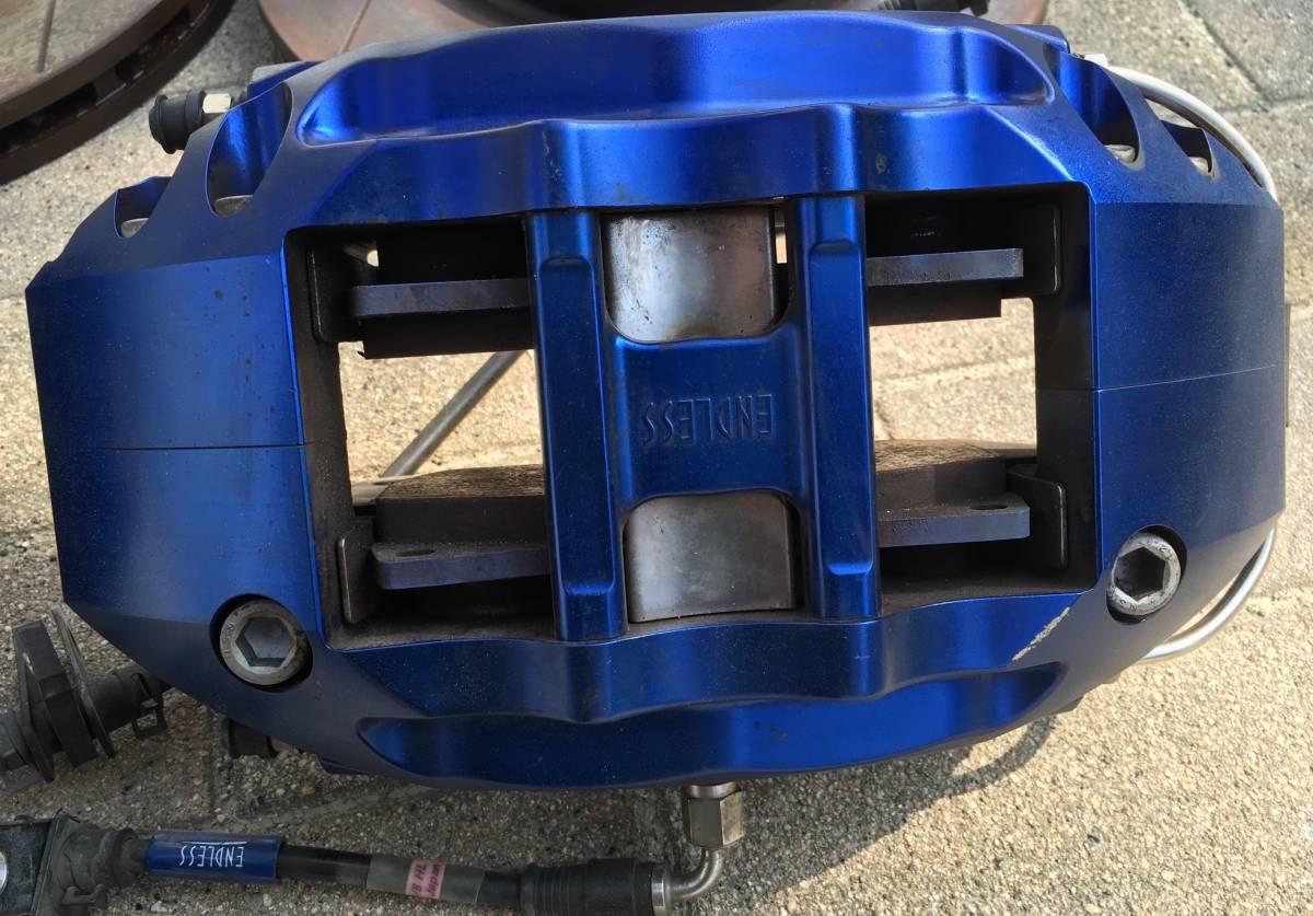エンドレス 6pot フロント キャリパー ローター パッド ホース 付き GDB インプレッサ F型 にて使用_画像3