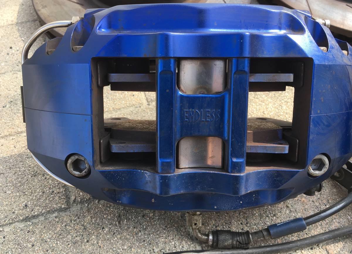 エンドレス 6pot フロント キャリパー ローター パッド ホース 付き GDB インプレッサ F型 にて使用_画像2