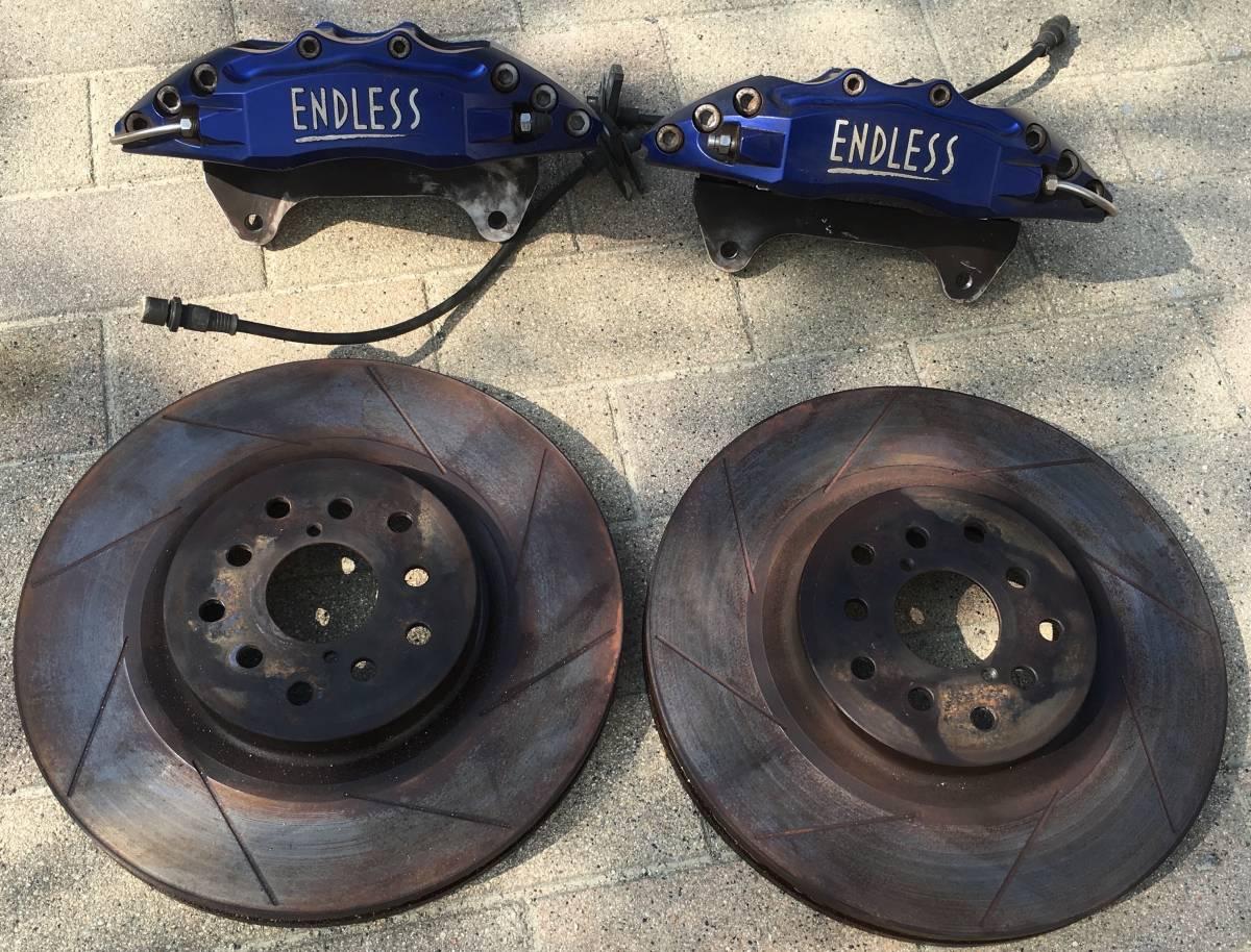 エンドレス 6pot フロント キャリパー ローター パッド ホース 付き GDB インプレッサ F型 にて使用_画像1