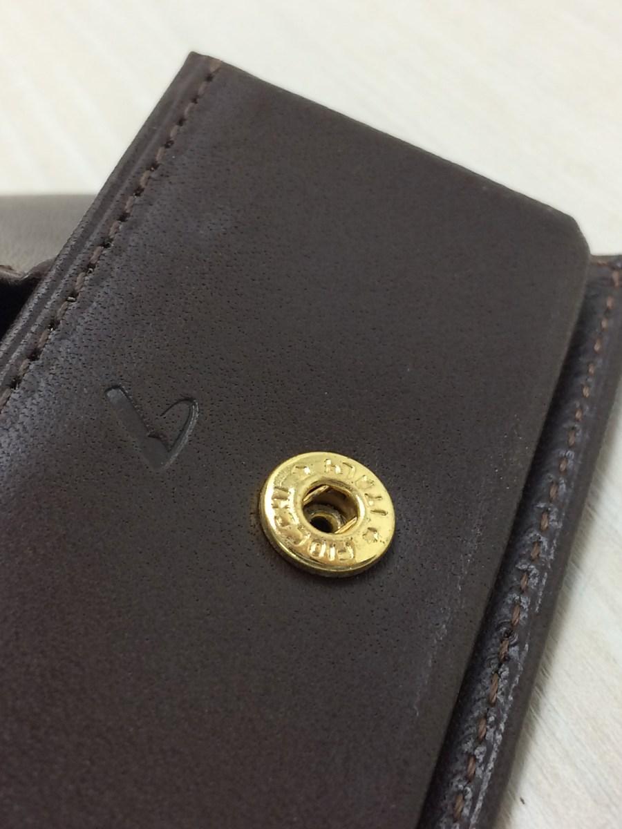 土屋鞄◆コンフィオ ヌメ革BOX小銭入れ/コインケース/レザー/BRW_画像4