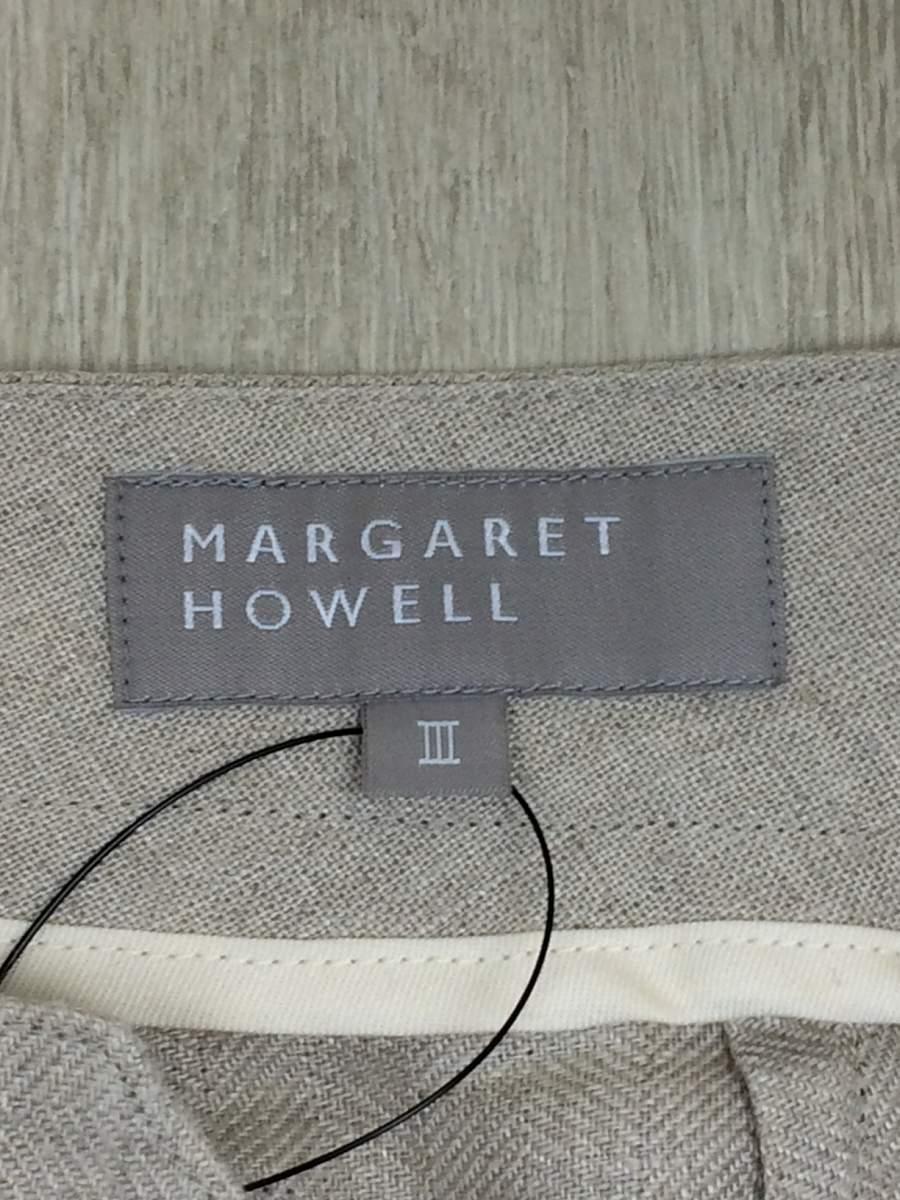Margaret Howell◆タック入ワイドパンツ/3/リネン/IVO_画像5