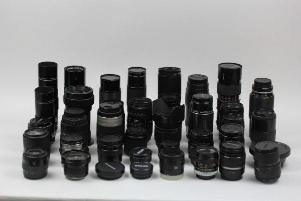■ジャンク ペンタックス コニカ キヤノン ミノルタ 等 レンズ 大量セット 望遠 38個■