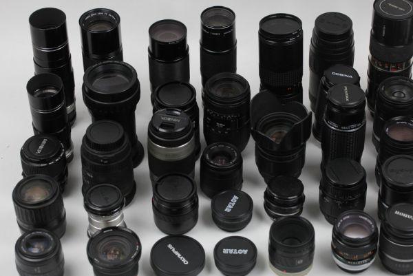 ■ジャンク ペンタックス コニカ キヤノン ミノルタ 等 レンズ 大量セット 望遠 38個■_画像2