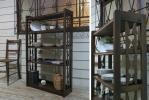 希少♪素敵なデザイン♪古い木味 アンティーク本棚☆ケビント棚