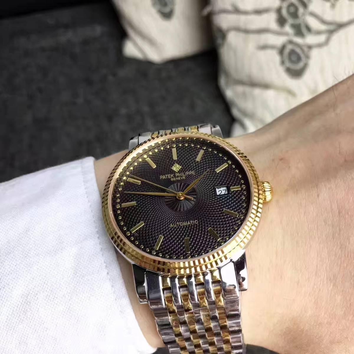 新品 パテックフィリップ 男性用 腕時計 Patek Philippe ステンレス メンズウォッチ 自動巻き