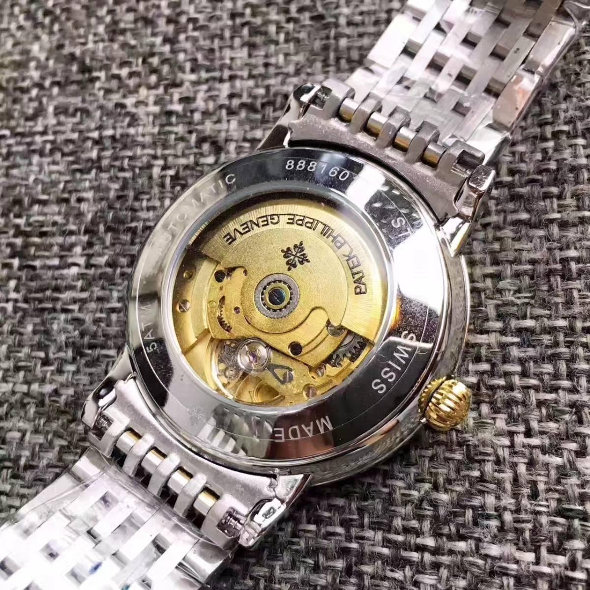 新品 パテックフィリップ 男性用 腕時計 Patek Philippe ステンレス メンズウォッチ 自動巻き_画像2