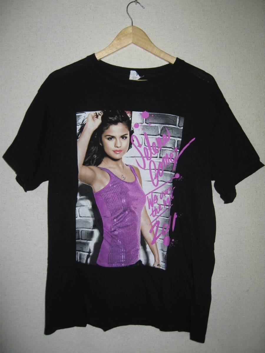 セレーナゴメス WE OWN THE NIGHT 2011 TOUR Tシャツ Lサイズ 黒 両面プリント 00's