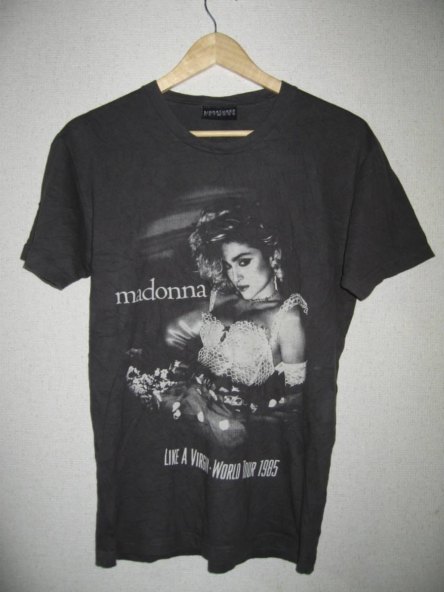 MADONNA LIKE A VIRGIN WORLD TOUR 1985 Tシャツ Sサイズ グレー 00's