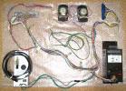 セガ アストロシティ アーケード筐体用 JAMMAハーネス・スピーカー・電源ボックス・電源ケーブルなど一式、ビス付き sega/astro city