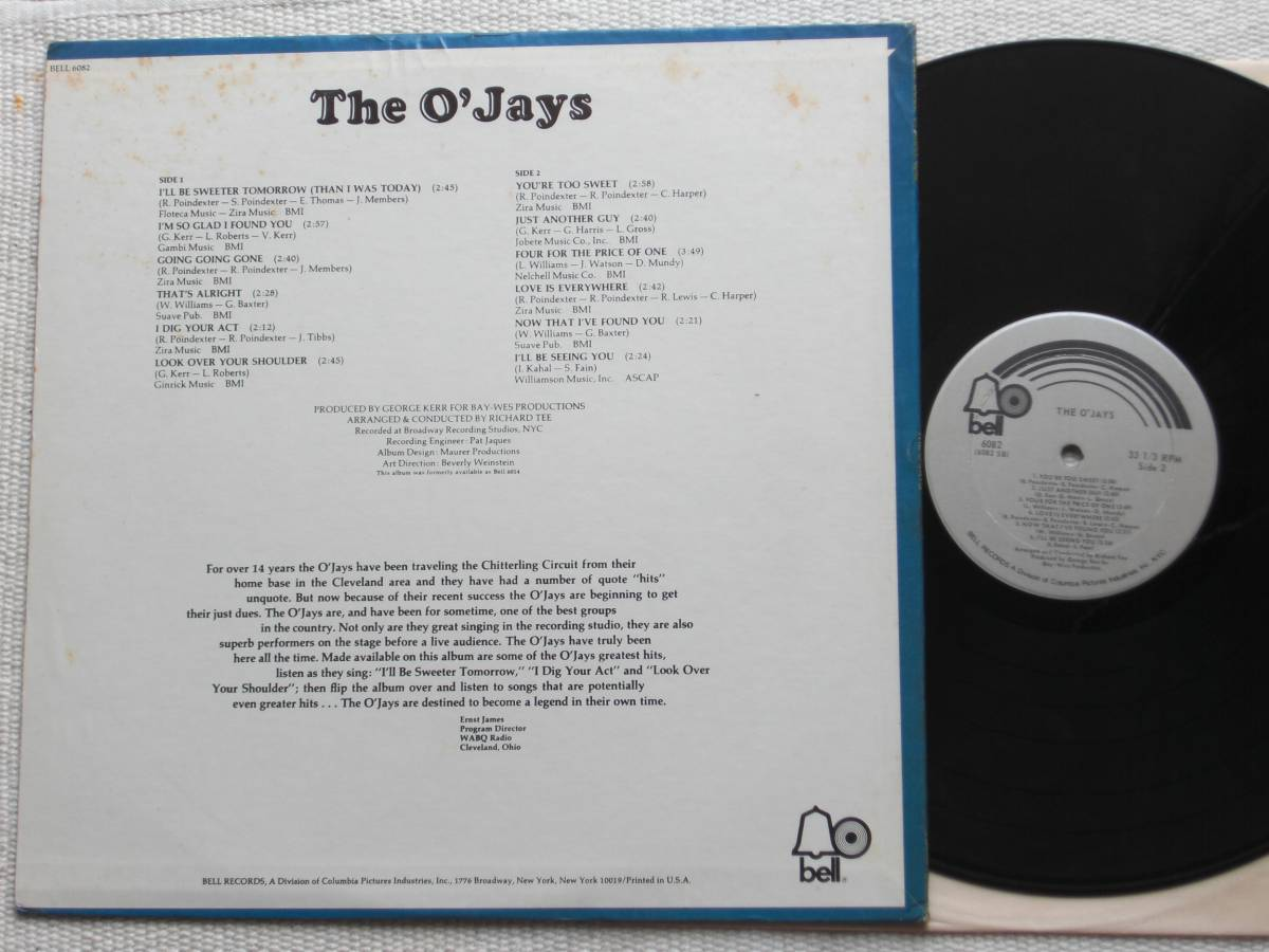US盤 LP The O'Jays / The O'Jays (Bell Records BELL 6082 ) _画像2