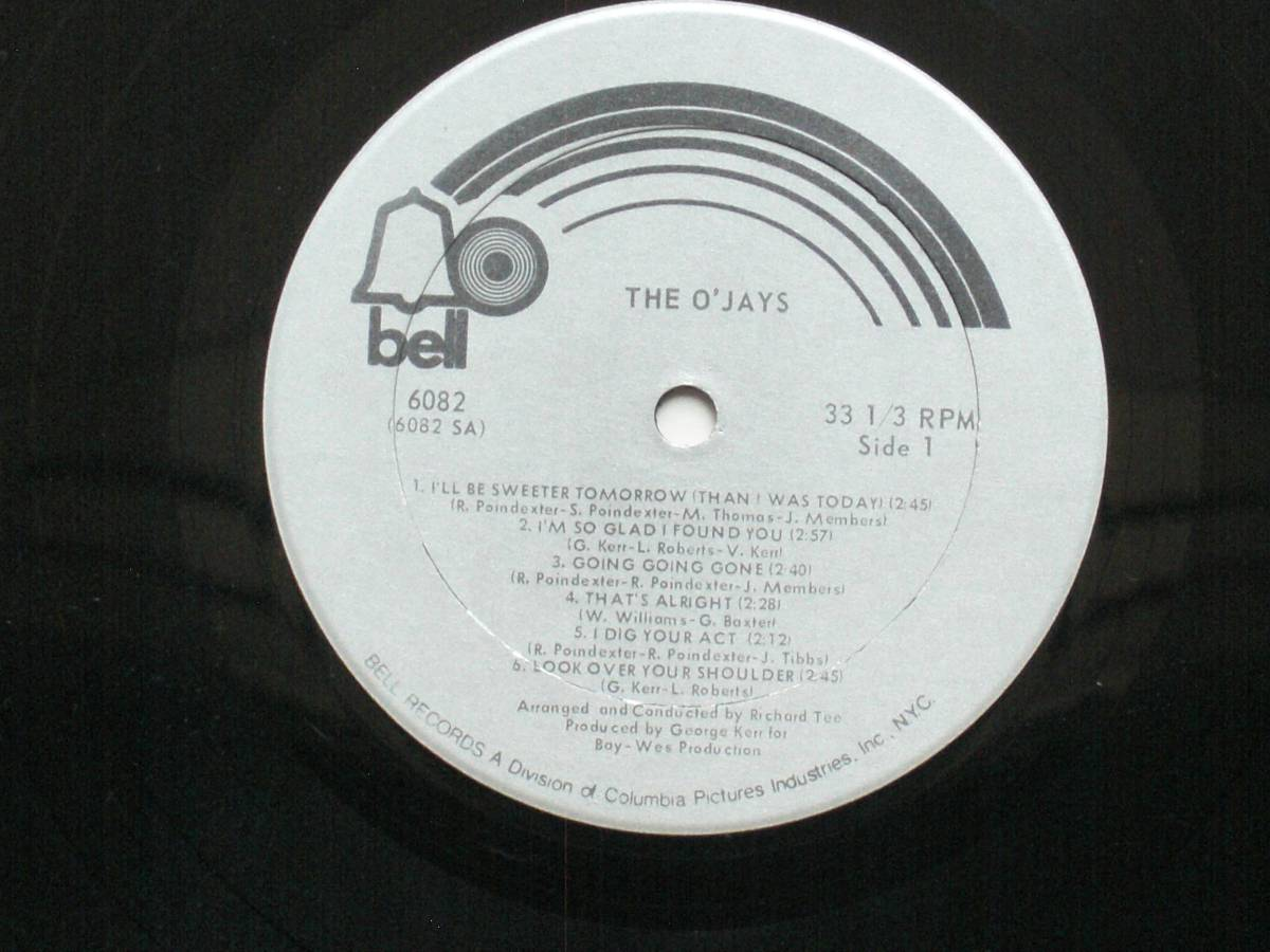 US盤 LP The O'Jays / The O'Jays (Bell Records BELL 6082 ) _画像3